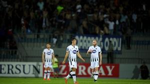 Dundalk players react to the 3-0 defeat in Baku