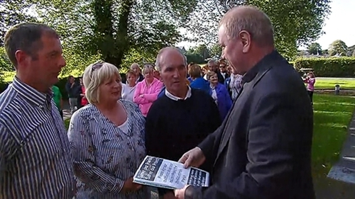 The petition was handed over to Fr Nicholas Flynn at St Mary's Cathedral, Killarney