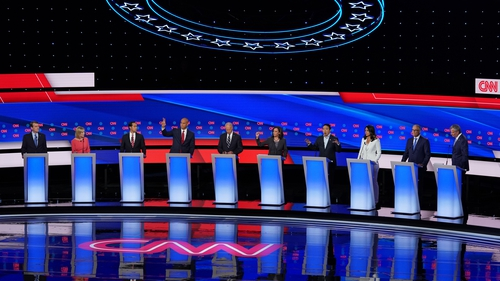Ten candidates took part in the second televised debate