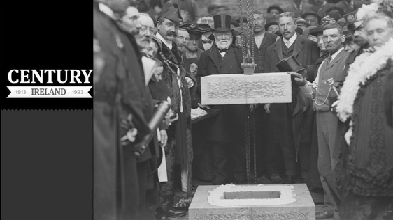 Century Ireland Issue 158 - Andrew Carnegie pictured with assembled dignitaries for the laying of the foundation stone of Waterford Free Library at Lady Lane on 19 October 1903 Photo: National Library of Ireland, P_WP_1313