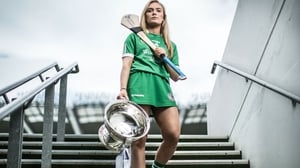Marian Quaid with the O'Duffy Cup