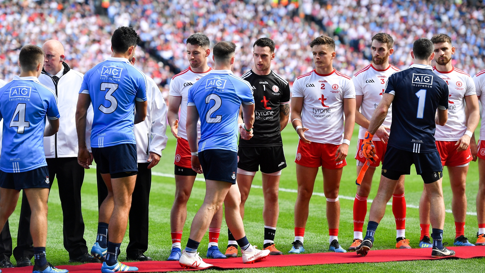 Image - Dublin and Tyrone - getting the formalities out of the way
