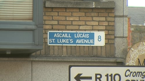 The incident happened as gardaí approached a car on St Luke's Avenue
