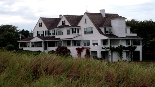 Emergency services were called to the Kennedy compound yesterday