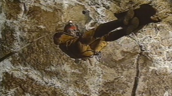 Man potholing in cave, County Fermanagh (1994)