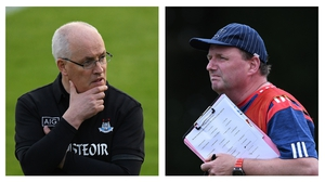 Gray and Ricken (r) go head to head this afternoon at Portlaoise
