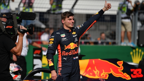 Verstappen became the 100th person in Formula One to claim pole position