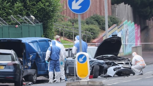 The incident happened at Whiterock Road shortly after midday