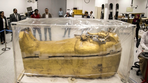 Feature: Egypt's restoration of ancient King Tut's large coffin goes well