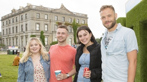 (L to R) Derry Girl Nicola Coughlan, Young Offender Alex Murphy, Jordanne Jones and Moe Dunford at All Together Now