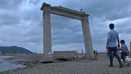 The ruins also reappeared following a drought in 2015