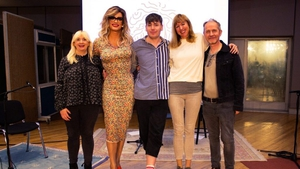 Panti's parlour: (L to R) Brona C.Titley, Panti Bliss, Anthony Keigher, Caoimhe Butterly and Iarla Ó Lionáird (Pic: John Howard)