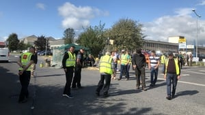 Pickets continue in place outside Dawn Meats in Grannagh, Co Kilkenny