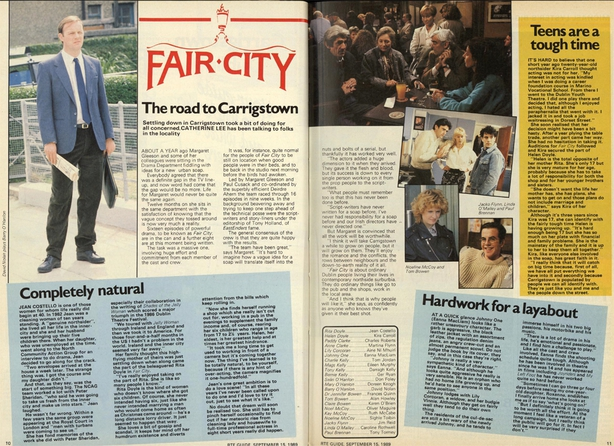 Fair City The Road to Carrigstown, RTÉ Guide 15 September 1989