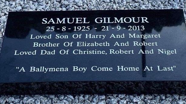 Samuel Gilmour plaque
