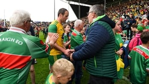 Michael Murphy leaving the field in Castlebar on Saturday evening