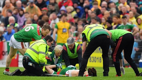 Doherty is treated on the pitch in Castlebar