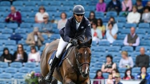 Paul O'Shea in action at the Dublin Horse Show