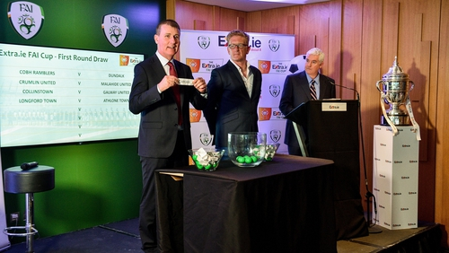 The draw takes place at FAI headquarters in Abbotstown