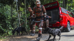 The local dog unit was brought in to sniff out any scent of the missing teenager