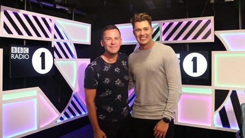 Curtis Pritchard revealed his new job on BBC Radio 1's Scott Mills Show