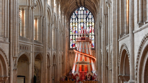 Norwich Cathedral's ceiling dates back to the mid 15th Century when a new roof was built following a fire