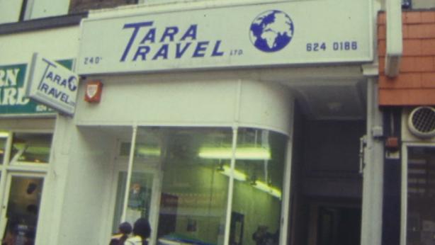 Tara Travel, Kilburn High Road, London (1979)