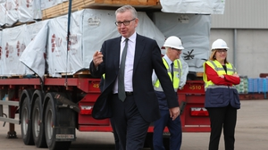 Michael Gove met business leaders in Warrenpoint, Co Down