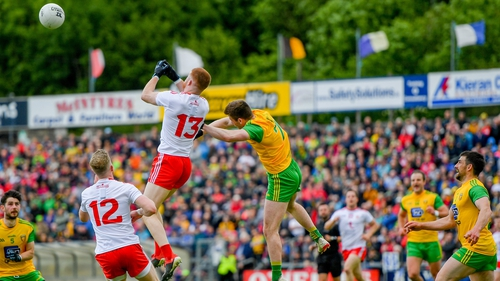Cathal McShane in action against Donegal in the 2019 championship