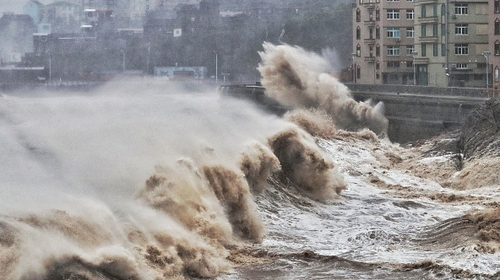 Super Typhoon Lekima slammed into southeastern China early Saturday, bringing torrential rain and heavy winds