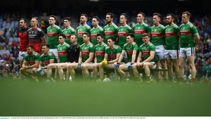 The Mayo team before their All-Ireland semi-final defeat to Dublin