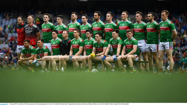 The Mayo team before their 2019 All-Ireland semi-final defeat to Dublin