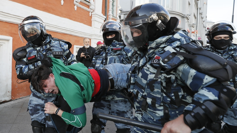 Dozens arrested at opposition rally in Moscow