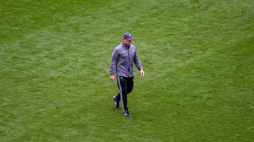 Gavin walking across Croke Park