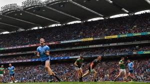 That winning feeling: Brian Fenton celebrates scoring Dublin's third goal