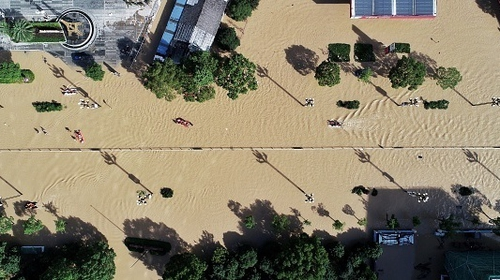 More than a million people were evacuated from their homes ahead of the typhoon