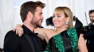 Liam Hemsworth and Miley Cyrus at the Met Gala in May