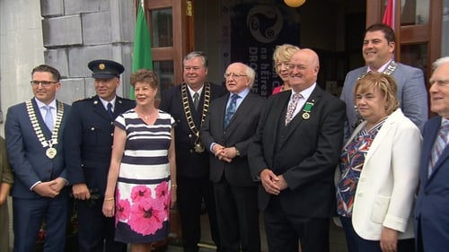 President Michael D Higgins opened the 2019 Fleadh Cheoil this afternoon