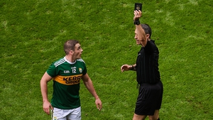 Stephen O'Brien saw black for a deliberate foul