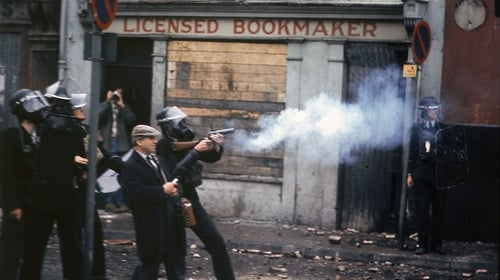 Police fire tear gas at protesters in Derry's bogside in August 1969 (Hulton Archive/Getty Images)