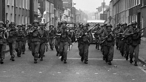 British troops arrive on the streets of Derry in 1969