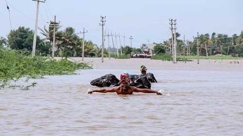 Many key highways and roads across the affected regions have been damaged or cut off by rising waters