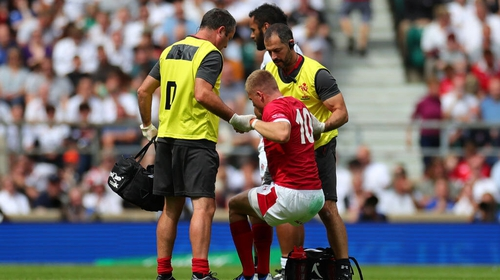 Anscombe was forced off in the first half of Wales' 33-19 defeat against England at Twickenham
