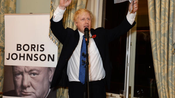 "Boris Johnson at the launch of his book ""The Churchill Factor: How One Man Made History"" in 2014. Photo: David M. Benett/ Getty Images"