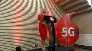 Vodafone CEO Anne O'Leary launches the company's 5G service in Cork