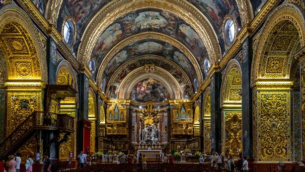Interior of St John s Co-Cathedral - Valletta Malta