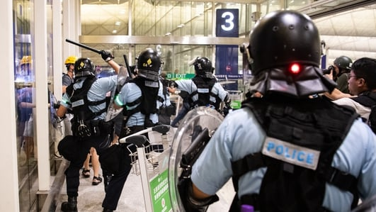China condemns 'near-terrorist acts' by Hong Kong protesters