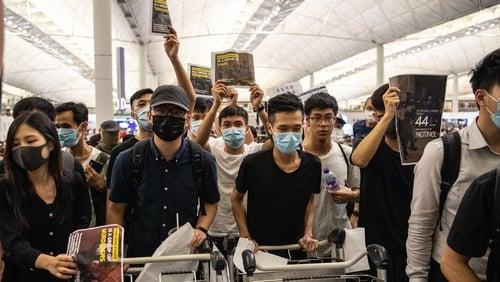 The protests paralysed one of the world's busiest transport hubs for two days