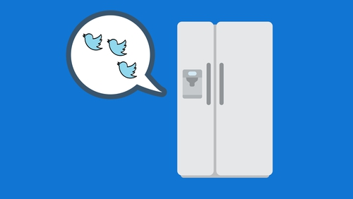 Rather than losing her cool, Dorothy used her family's fridge to tweet