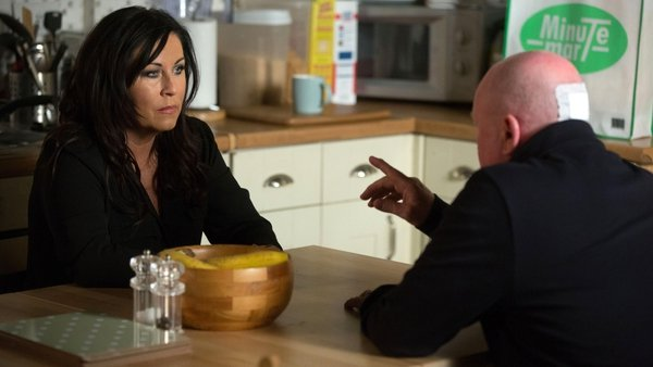Phil demands answers from Kat on EastEnders